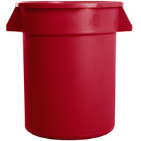 Carlisle 34102005 Bronco 20 Gallon Red Trash Can
