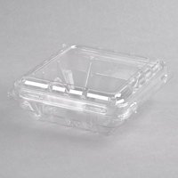 6 oz. Vented Clamshell Produce / Berry Container - 600/Case