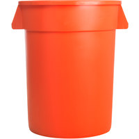 Carlisle 34103224 Bronco 32 Gallon Orange Trash Can