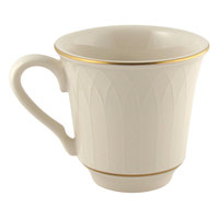 Homer Laughlin 1420-0332 Westminster Gothic Off White 9 oz. China Mug - 36/Case
