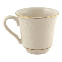 Homer Laughlin 1420-0332 Westminster Gothic Off White 9 oz. China Mug - 36/Case