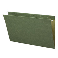 Smead 64110 8 1/2 inch x 14 inch Green Untabbed 11 Pt. Stock Hanging File Folder - Legal - 25/Box