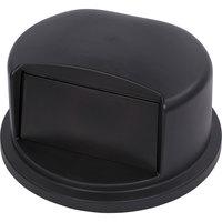 Carlisle 34103403 Bronco 32 Gallon Black Dome Trash Can Lid with Hinged Door