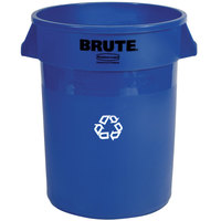 Rubbermaid FG263273BLUE BRUTE 32 Gallon Blue Recycling Can