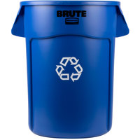 Rubbermaid FG264307BLUE BRUTE 44 Gallon Blue Recycling Can