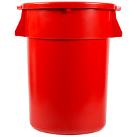 Continental Huskee 44 Gallon Red Trash Can with Red Lid