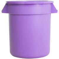 Carlisle 34101089 Bronco 10 Gallon Purple Trash Can