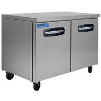 Nor-Lake NLUF48A-015 AdvantEDGE 48 inch Undercounter Freezer with Door Locks - 13.4 Cu. Ft.