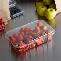 3 lb. Vented Clamshell Produce / Berry Container - 140/Case