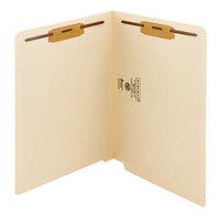 Smead 34115 Shelf-Master Letter Size Fastener Folder with 2 Fasteners - Reinforced Straight Cut End Tab, Manila - 50/Box