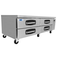 Nor-Lake NLCB72 AdvantEDGE 72 inch 4 Drawer Refrigerated Chef Base