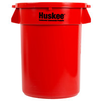 Continental Huskee 32 Gallon Red Trash Can with Red Lid