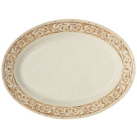 GET OP-621-OL Olympia 21 inch x 15 inch Melamine Oval Platter - 12/Case