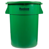 Continental Huskee 44 Gallon Green Trash Can with Green Lid