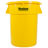 Continental Huskee 44 Gallon Yellow Trash Can with Yellow Lid
