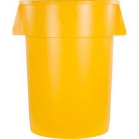 Carlisle 34104404 Bronco 44 Gallon Yellow Trash Can