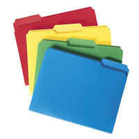 Smead 10500 Waterproof Poly Letter Size File Folder - Standard Height with 1/3 Cut Assorted Tab, Assorted Color - 24/Box