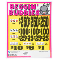 Beggin' Buddies 5 Window Pull-Tab Tickets - 4000 Tickets per Deal - $1400 Total Payout