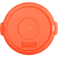Carlisle 34101124 Bronco 10 Gallon Orange Flat Trash Can Lid