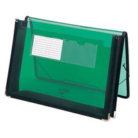 Smead 71951 Letter Size Poly Expansion Wallet - 2 1/4 inch Expansion with Flap and Cord Closure, Green
