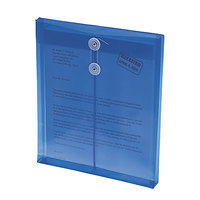 Smead 89542 Letter Size Top Load Poly Envelope - 1 1/4 inch Expansion with String Tie Closure, Blue - 5/Pack