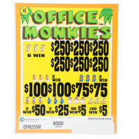 Office Monkies 5 Window Pull-Tab Tickets - 4000 Tickets per Deal - $3000 Total Payout