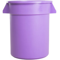 Carlisle 34102089 Bronco 20 Gallon Purple Trash Can
