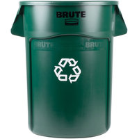 Rubbermaid 1926829 BRUTE 44 Gallon Dark Green Recycling Can