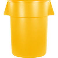 Carlisle 34105504 Bronco 55 Gallon Yellow Trash Can