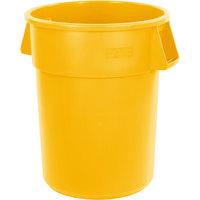 Carlisle 34105504 Bronco 55 Gallon Yellow Trash Can
