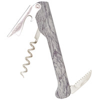 Franmara 2011M Capitano Waiter's Corkscrew with Designer Series White Marble Decal Handle