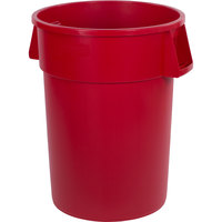 Carlisle 34104405 Bronco 44 Gallon Red Trash Can