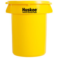 Continental Huskee 32 Gallon Yellow Trash Can with Yellow Lid