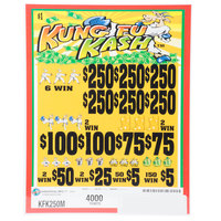 Kung Fu Kash 5 Window Pull-Tab Tickets - 4000 Tickets per Deal - $3000 Total Payout