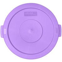 Carlisle 34102189 Bronco 20 Gallon Purple Flat Trash Can Lid
