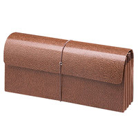 Smead 71350 12 inch x 5 inch Expansion Wallet - 3 1/2 inch Expansion with Flap and Cord Closure, Redrope