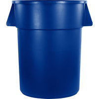 Carlisle 34105514 Bronco 55 Gallon Blue Trash Can