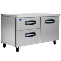 Nor-Lake NLUR60A-003 AdvantEDGE 60 inch Undercounter Refrigerator with 1 Door and 2 Left Side Drawers