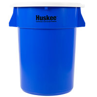 Continental Huskee 44 Gallon Blue Recycling / Trash Can with White Lid