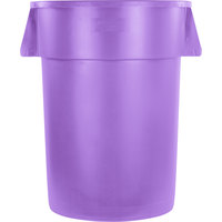 Carlisle 34104489 Bronco 44 Gallon Purple Trash Can