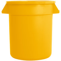 Carlisle 34101004 Bronco 10 Gallon Yellow Trash Can