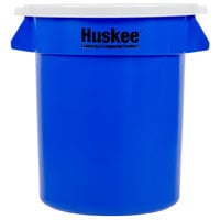 Continental Huskee 20 Gallon Blue Recycling / Trash Can with White Lid