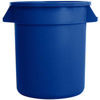 Carlisle 34101014 Bronco 10 Gallon Blue Trash Can