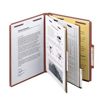 Smead 14075 SafeSHIELD Letter Size Classification Folder - 10/Box