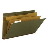 Smead 65160 Legal Size Hanging File Folder with 2 Dividers - 10/Box