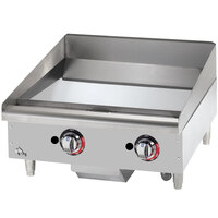 Star Max 624TCHSF 24 inch Countertop Gas Griddle with Chrome Plate Thermostatic Controls - 56,600 BTU