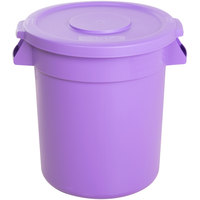 Carlisle Bronco 10 Gallon Purple Trash Can with Lid