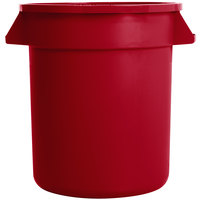 Carlisle 34101005 Bronco 10 Gallon Red Trash Can