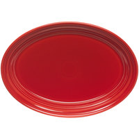 Homer Laughlin 456326 Fiesta Scarlet 9 5/8 inch Platter - 12/Case