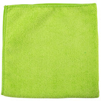 Unger ME400 SmartColor MicroWipe 16 inch x 16 inch Green UltraLite Microfiber Cleaning Cloth - 10/Pack